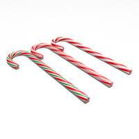 candy canes 3d model