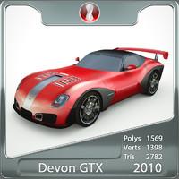 3d model of devon gtx 2010