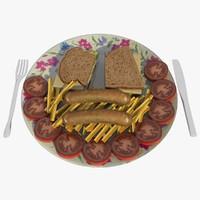sandwich chips 3d c4d