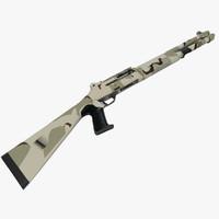 3d benelli m4 shotgun 2 model