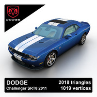 2011 dodge challenger srt8 3d 3ds