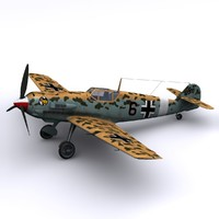 german 1941 bf-109s 3d model