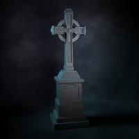 3d grave stone