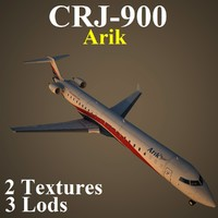 regional jet ara 3d model