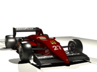 race car formula1 3d model