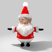 cartoon character santa claus 3d c4d