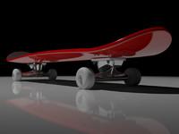 3d model skateboard board