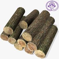 logs medieval 3d model