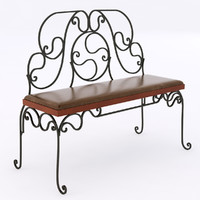 3ds max bench iron wrought