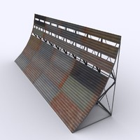 blast fence 3d model