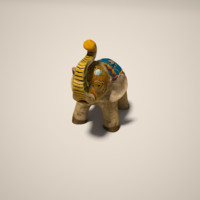ceramic elephant 3d model