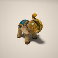 3d model ceramic elephant
