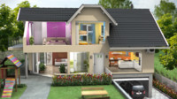 3ds max house cross section