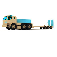 wooden toy truck lighting 3d model