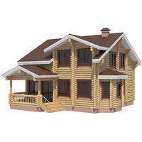 log house 3d c4d