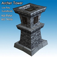 archer tower 3d 3ds