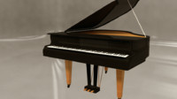 3d simple grand piano