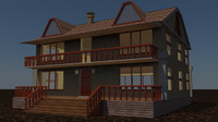3dsmax new house ranch
