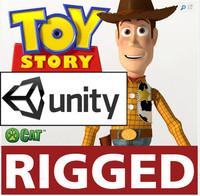 3d model unity unity3d pixar woody