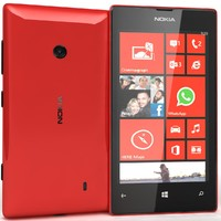 nokia lumia 520 red 3d model