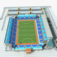 3d hockey stadium