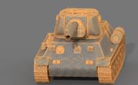 t34-57 tank 3d model