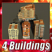 building 49-52 collections 3d 3ds