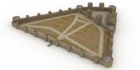 medieval castle smederevo 3d max