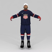 ice hockey player 3d max