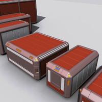 Sci Fi Cargo Crate
