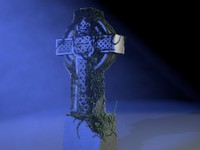 3d celtic cross ivy