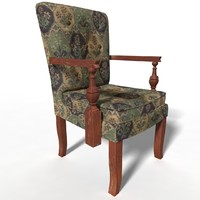 3d model of antique chair
