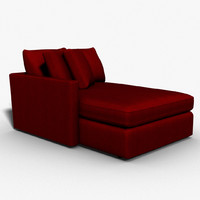 sectional chaise 3d model