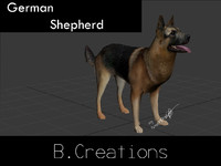 3d model german shepherd
