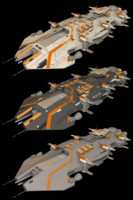 ender battlecruiser cruiser 3d model