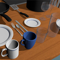 kitchen dinning table 3d c4d
