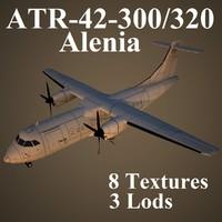 3d model atr-42-300 320 alenia
