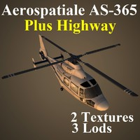3d model of aerospatiale vip