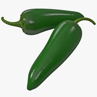 jalapeno pepper 2 3d model
