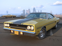 3d plymouth gtx 1970 model