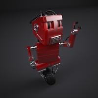 3d model retro robot