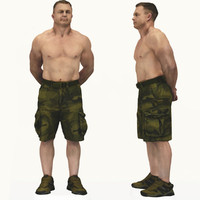 scan male body builder 3d model