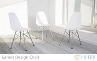 eames design chair white 3d max