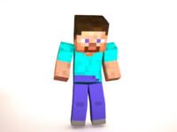 3d cubeboy rigged