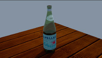 3d bottle glass
