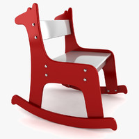 giraffe rocking chair 3d 3ds