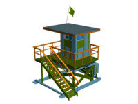 3d model life guard hut