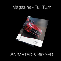 magazine turn opening rigged 3d max