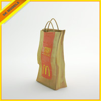 mcdonald s paper bag 3d 3ds