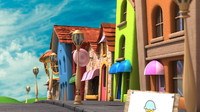 cartoon street 3d obj